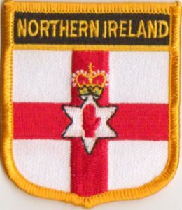 Northern Ireland Embroidered Flag Patch, style 07